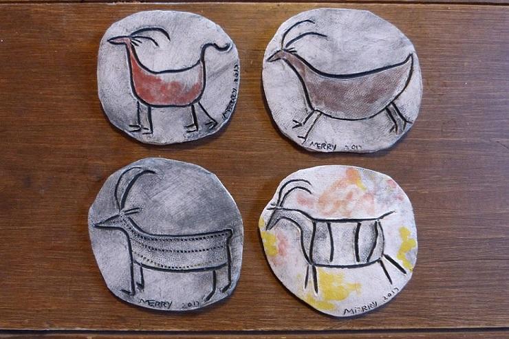 petroglyph inspired goats